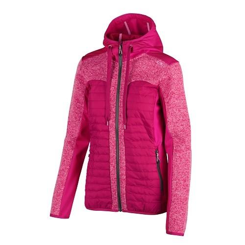 CMP Women Fix Hood Hybrid Jacket - Damen Jacke