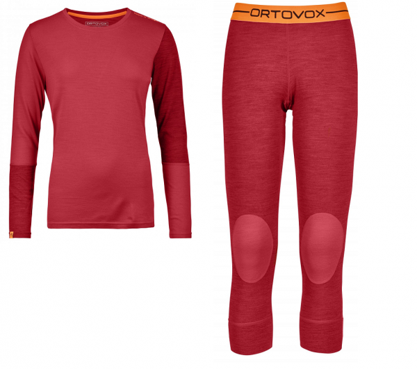ORTOVOX 185 ROCK'N'WOOL LONG SLEEVE o. Short Pants - Damen Funktionswäsche