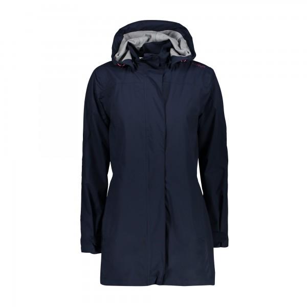 CMP Woman Rain Jacket Button Hood - Damen Regenjacke
