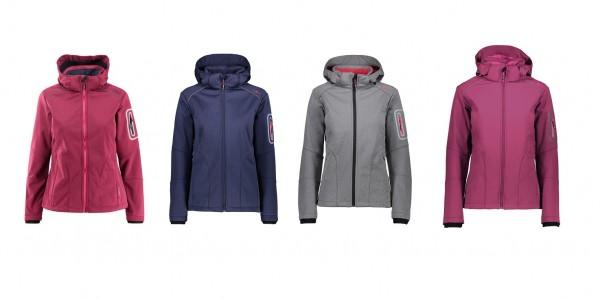 CMP Woman Jacket Zip Hood - Damen Softshelljacke