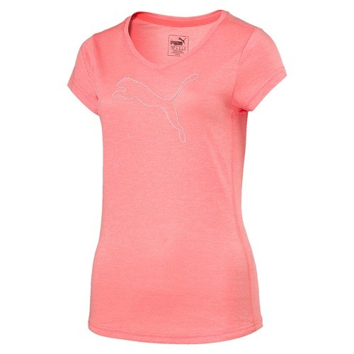 PUMA Heather Cat Tee - Training Damen Meliertes T-Shirt