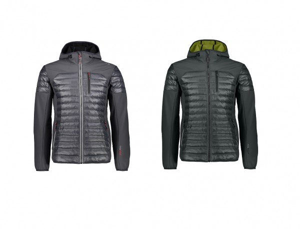 CMP Man Jacket Fix Hood Hybrid - Herren Hybrid Softshelljacke