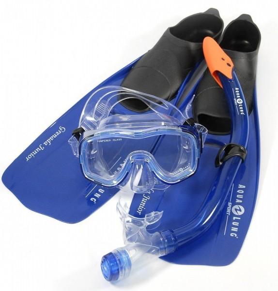 Aqua Lung Schnorchelset mit Taucherbrille, Schnorchel, Flossen