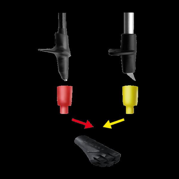 Leki Puffer Power Grip Multi System - 1 Paar mit verschiedenen Adaptern