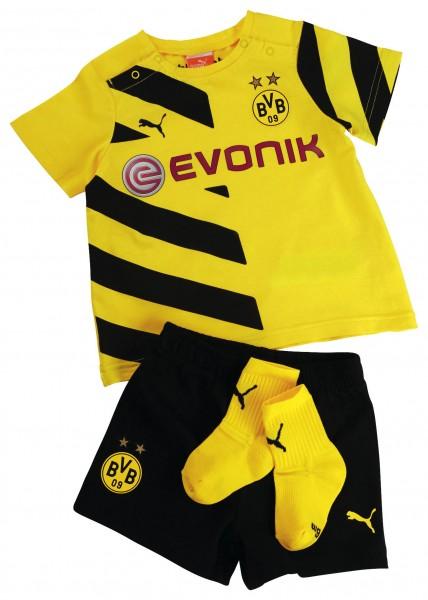 PUMA BVB Home Babykit mit Socken 2014/15 / Heimtrikot Baby-Set