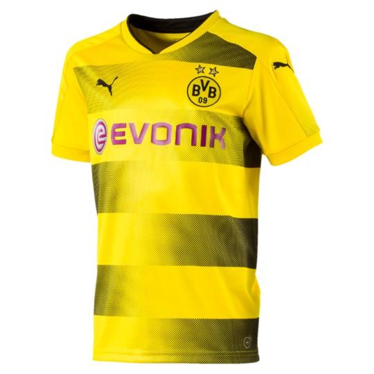 Puma BVB Borussia Dortmund Kinder Home Trikot 2017/2018 with Sponsor Logo