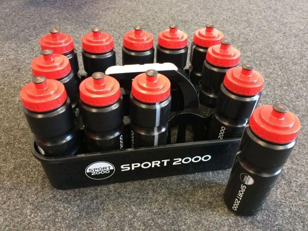 Sport 2000 Trinkflaschenbehälter Container mit 12 Trinkflaschen à 0,75L